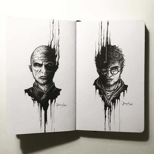 art, black and white, harry potter - image #3853978 by ...