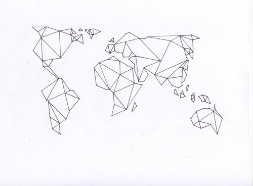 Line Art Earth : Thanks for follow ilysm image by helena on