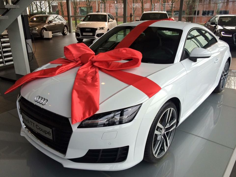 audi, bow, christmas, dope, gift, love, luxury, white