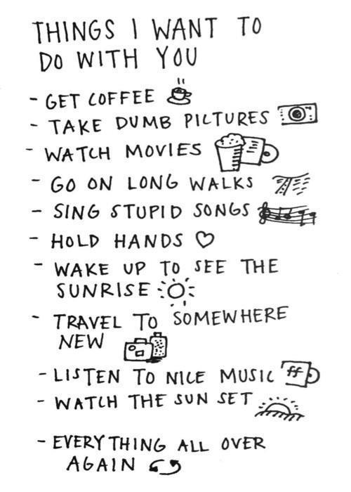 awesome, aww, couple, cute, draw, list, love, photo, photography, phrase, sweet, text, things to do, vintage