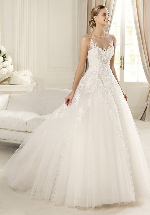 Elegant Ball Gown Wedding Dresses : Ball gown wedding dress tulle image