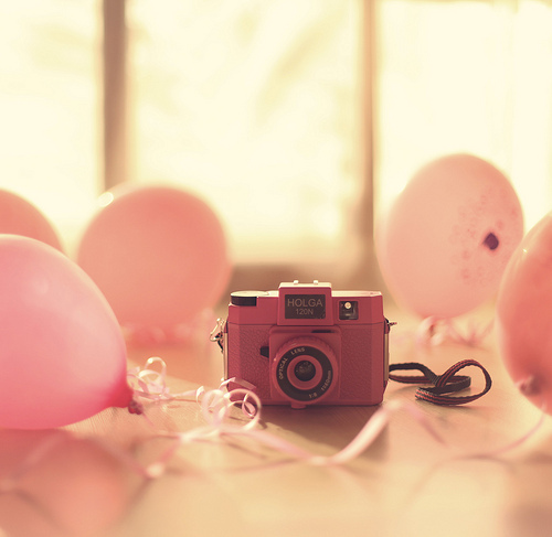 baloons, camera, cute, kawaii
