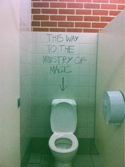 bathroom, cool, harry and harry potter