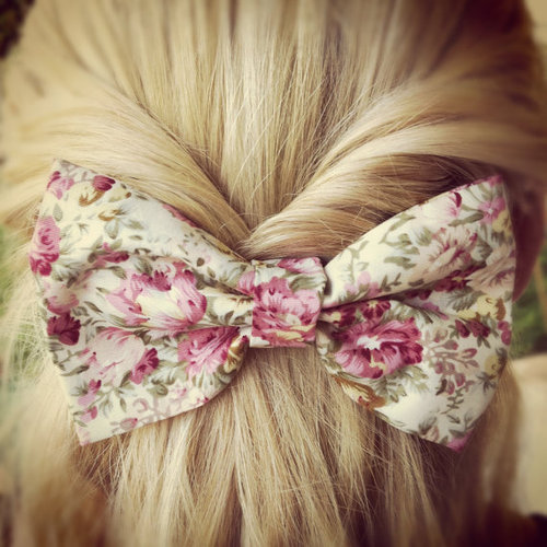 beautiful, bow, bows, flowers - image #728073 on Favim.com