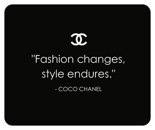black and white, chanel, fashion, love, quote, style, text, true, words
