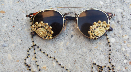 black, cute, fashion, gold, summer, sunglasses, sunnies