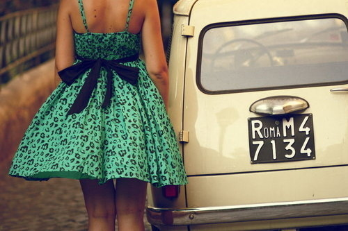 bow, bows, car, cars, chic, cute, dress, fashion, girl, girls, vintage, woman