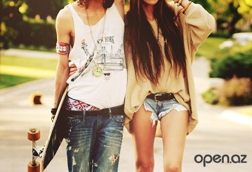 boy, clocks, friends, girl, girly, jeans, love, new york, people, person, shorts, skate, style, together, two