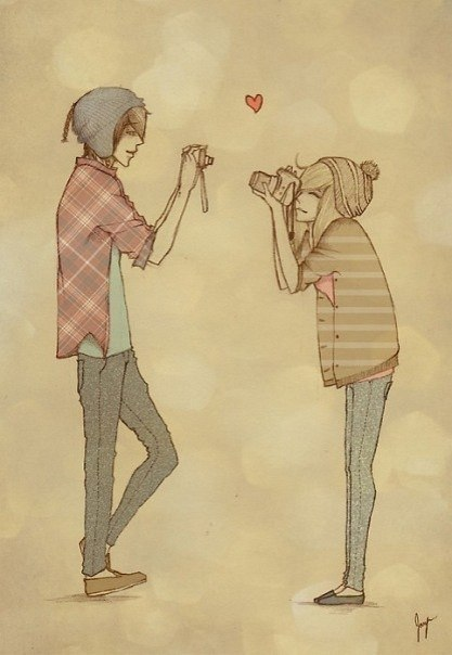 Boy cute drawing girl image 725006 on for Cute drawings for a girlfriend