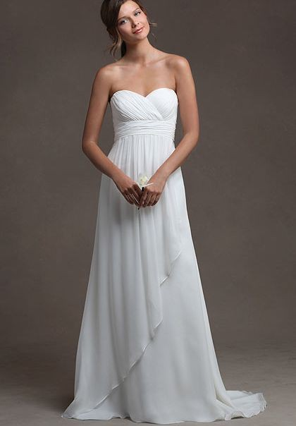 Chiffon Sweetheart Wedding Dress