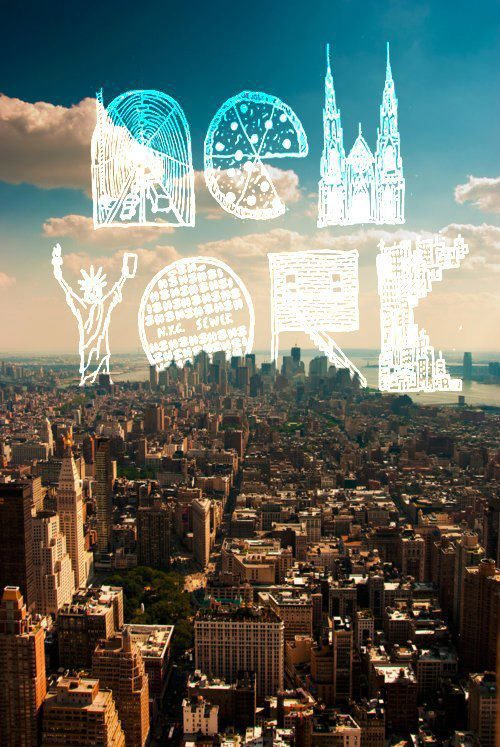 City clouds life new york photography place sky text