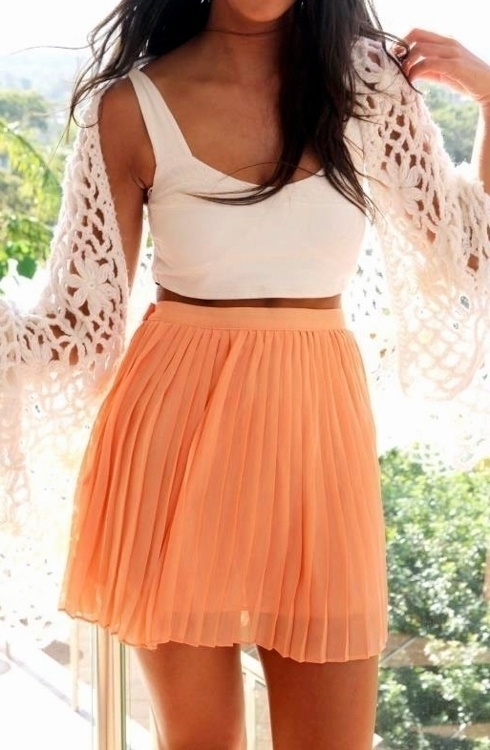 High-Waisted Skirt with Crop Top