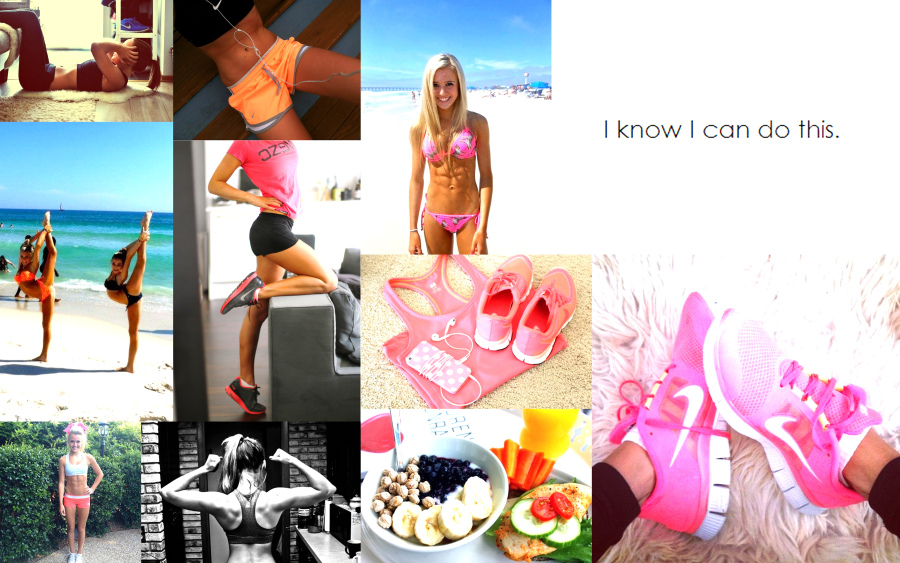 Collage, body, cheer, cheerleading