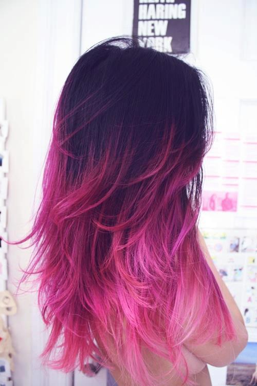 Simple Beauty Cool Girl Hair Pink