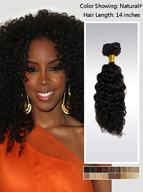 Black Curly Hair Extension 44