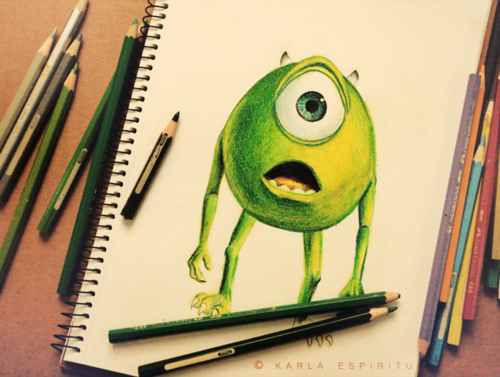Cute Drawing Quotes Cute Draw Green Mike