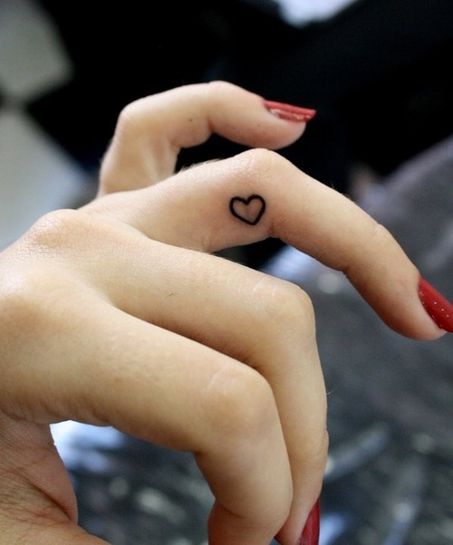 The gallery for cute heart tattoos tumblr for Small heart tattoos