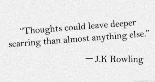 deep, jk rowling, quote, scars
