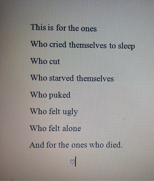 quotes about self harm tumblr - photo #30