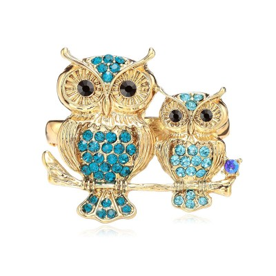fashion, gold owl two finger rings, owl rings and owl two finger rings