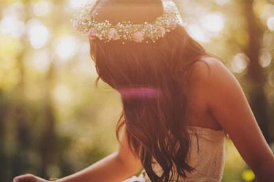 flowers, girl, hair, sweet