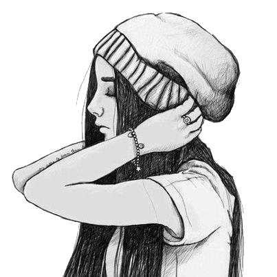 Cute Drawing Girl And Hat Image 718860 On Favim Com