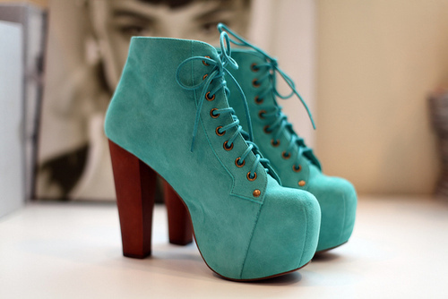 High Heels Jeffrey Campbell Shoes Turquoise Image
