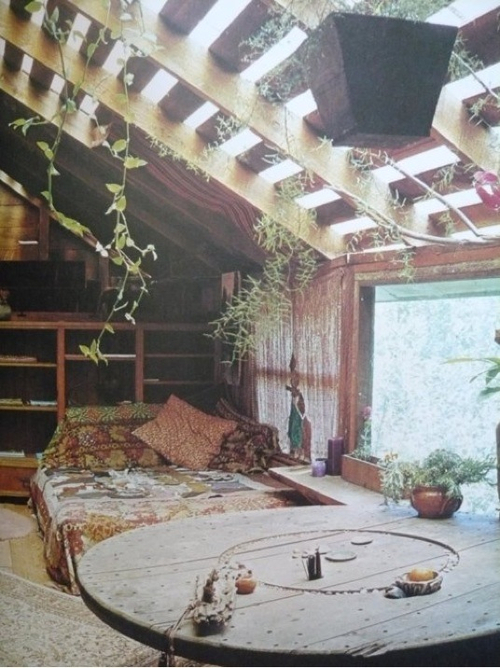 Hippie interior design nature room image 706163 on for Cool hippie bedroom ideas