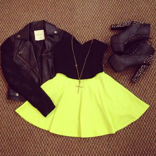 accessories, awesome, black, cross, dope, fashion, girl, hair, heels, hot, jeffrey campbell, leather, necklace, neon, rings, shorts, style, summer