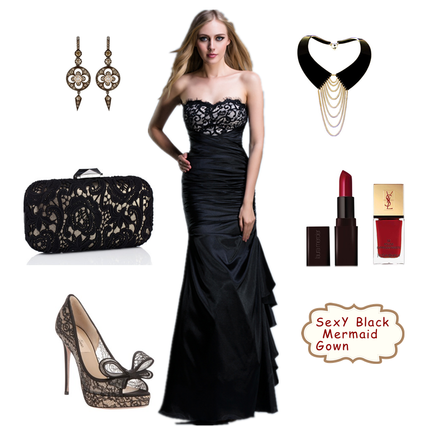 accessories for a black cocktail dress plus size prom