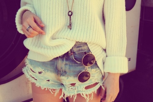 key, shorts, summer, sunglasses, sweater