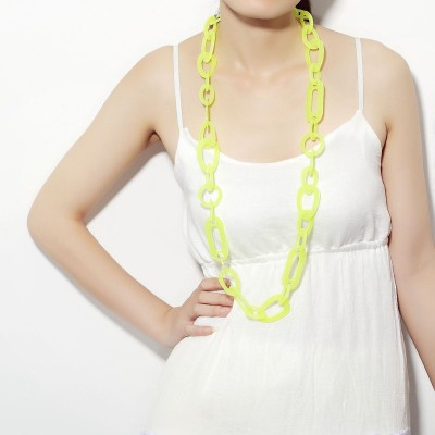 acrylic chain necklaces, acrylic link chain necklaces, acrylic link necklaces and blue acrylic necklaces