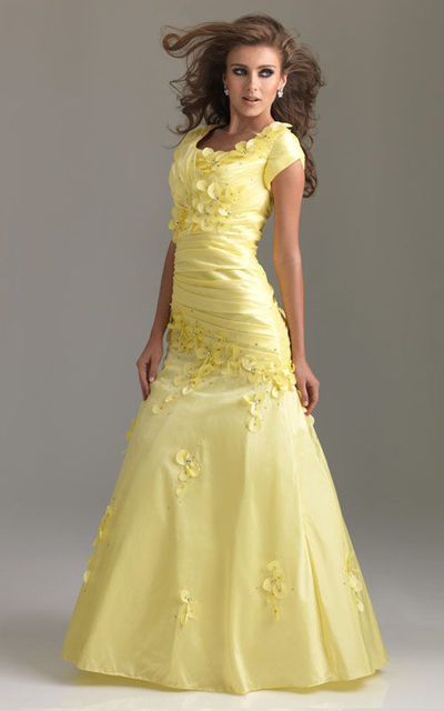 long dress, modest dress, night moves, prom dress, yellow dress
