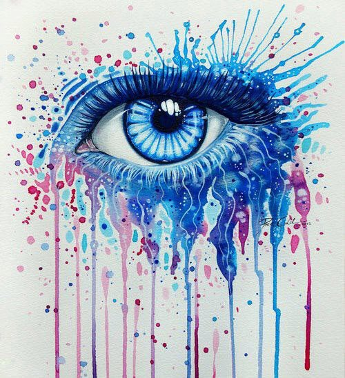 free coloring pages of eye drawing color pencil