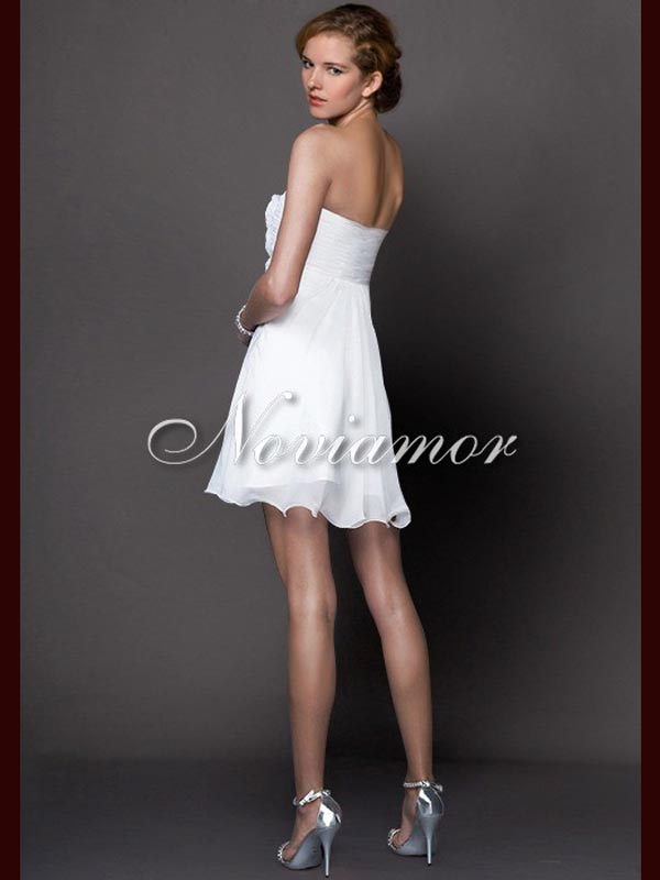 cheap white short summer prom dress 2013, prom evening dresses gowns, sexy backless noviamor white short formal bridesmaids dress for wedding