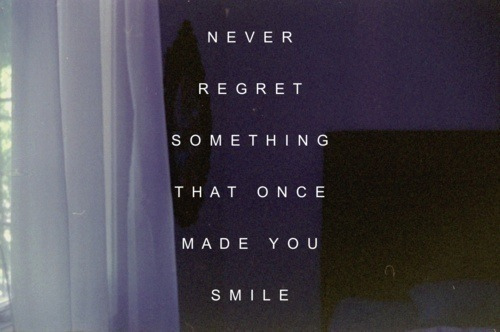 Quotes About Regret Love Tumblr : love, once, quote, quotes, regret, smile