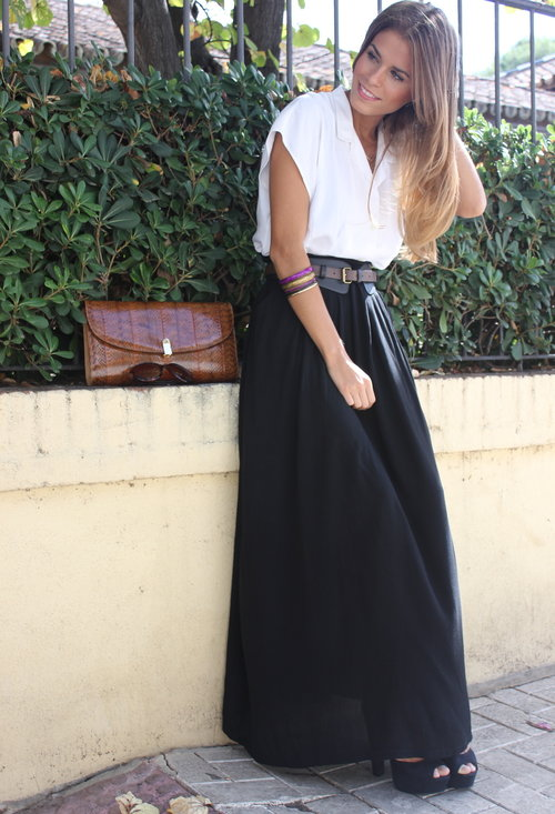 Black maxi skirt in summer – Modern skirts blog for you