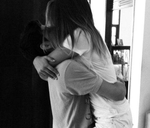black and white, boy, couple, girl, kiss, love