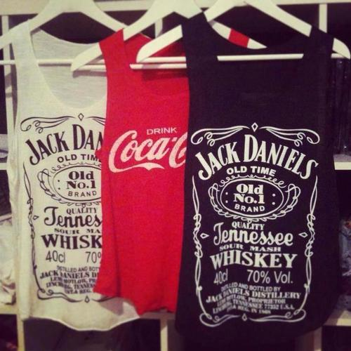 black, cool, drink, jack daniels, party, red, shirt, text, vintage